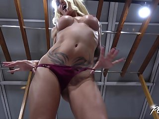 Sophie Logan makes a cock cum inside of her while riding it doggy