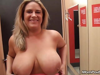 big naturals MILF flashing with an increment of fucking
