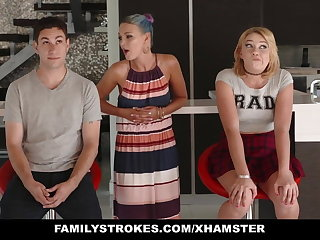 FamilyStrokes - Scavenger Hunt with sis zigzags sexual
