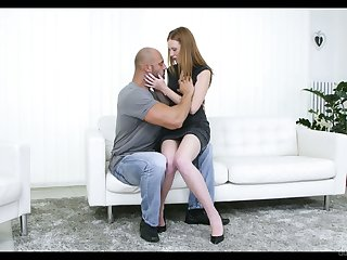 Red haired pierced pussy of Linda Fetching is impaled on a hard big cock
