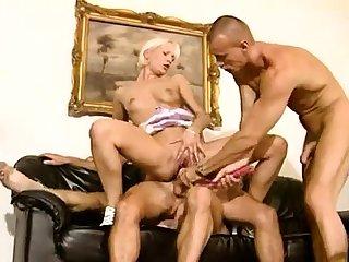 Strange bisexual anal triplet hardcore action