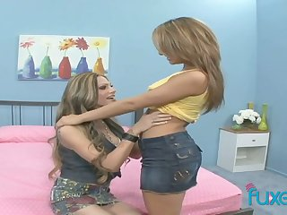 Lesbians can't stop toying each others insatiable wet pussies