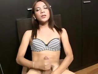 Hairy Cock Girl Jerking Crazy