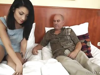 Step Daddy wants to spectator his daughter-in-law's tat - Rina Ellis