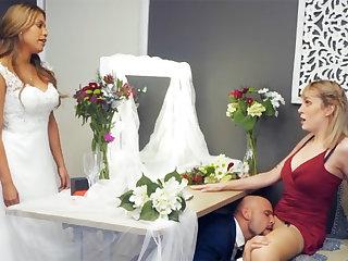 Bridesmaid calm on every side groom lasting sex