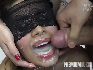 Premium Bukkake - Victoria swallows 81 big nip cumloads