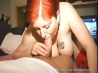 Prex redhead sucks dick and enjoys horny doggy climate fuck