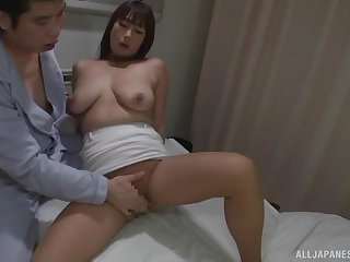 Sweet Japanese ramming a fat patient's penis on the hospital bed