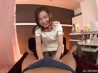 Slutty Mirei NaKagawa adding pleasure to massage surrounding horseshit riding