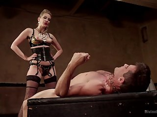 Mistress fucks her lead actor slave in rough manners