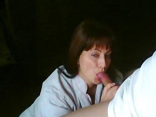 pretty girlfriend sucking on webcam