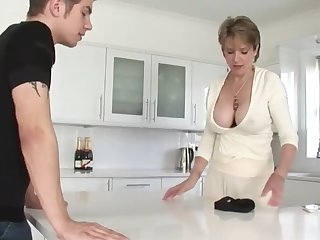 Shameless Mature Stepmom cant get enough of her Stepson