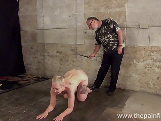 Short haired girth bitch with natural chest Lolani gets her pain in the neck slapped really steadfast