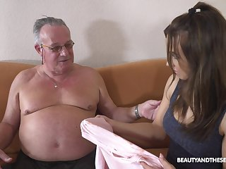 Stepdaughter's introduction to older ragtag and that girl can fuck