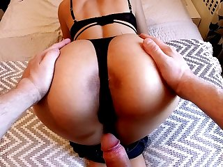 Incredible Ass Latina Teen Ass In the air Mouth Gets cum in Glasses
