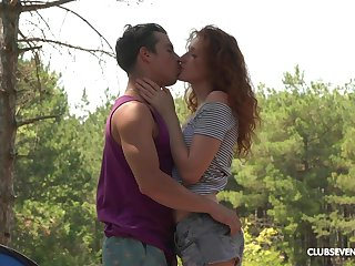 Wild outdoors fucking not later than camping with redhead Foxy Lee