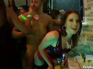 Video of glamour chicks riding over again od rock hard dicks during a pack