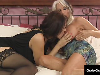 Big Tit Milfs Charlee Chase & Sally D'Angelo Suck A Dick!