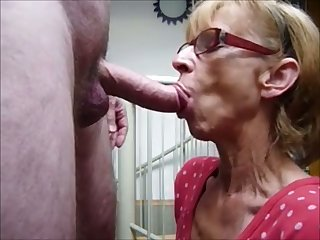 Nice dirty indiscretion she has and this granny knows how to give by a long shot blowjob