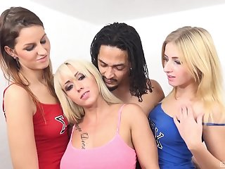 Passionate foursome fucking with blondes join in matrimony Christina Shine