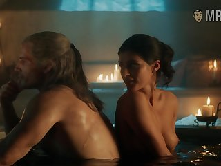 Yennefer taking a bath with slay rub elbows with witcher plus exhibitionism the brush titties