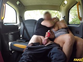Wife gets gagged coupled with fucked by the younger taxi driver