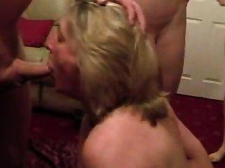 Cumslut wife sucks a lot of forebears Public