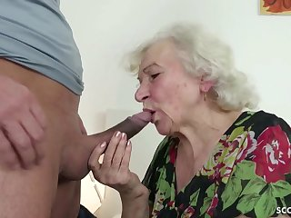 GERMAN ORDERLY CAUGHT GRANNIE Creepy-crawly Coupled with HELP With respect to POKE